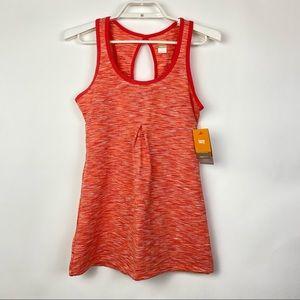 Lucy Zen Seeker Tunic Workout Tank Top Orange